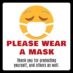 Wear a Mask Static Cling