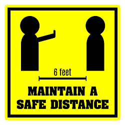 Maintain a Safe Distance Decal