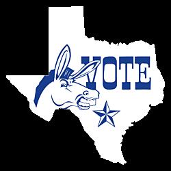 Texas Vote Democrat Decal