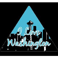I Love Washington Decal