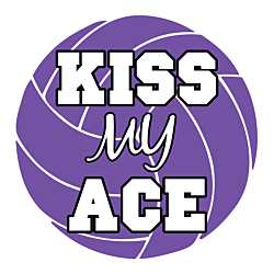 Kiss My Ace Volleyball Magnet