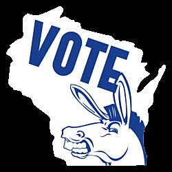 Wisconsin Vote Democrat Decals