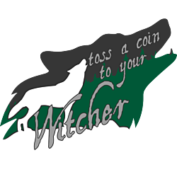 Toss a Coin to Your Witcher Wolf Howl Decal