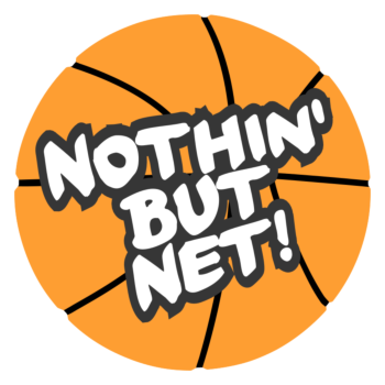 March Madness Nothin But Net Basketball Temporary Tattoo