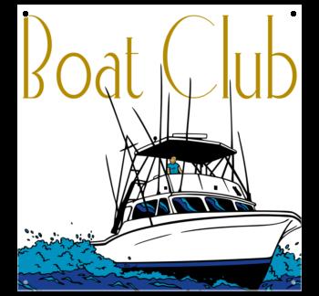 Boat Club Vinyl Banner