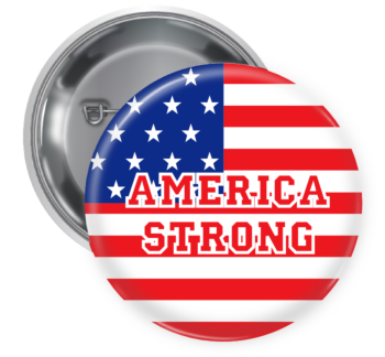 America Strong Button