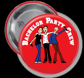 Bachelor Party Crew Button