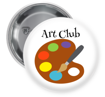 Art Club Pin Backed Button