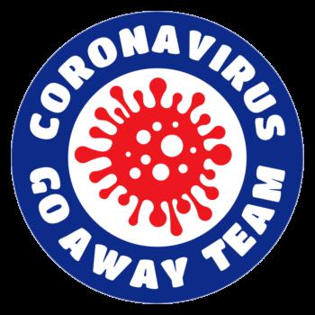 COVID-19 Coronavirus Go Away Team Parody Circle Car Magnet