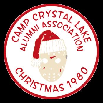 Camp Crystal Lake Christmas Friday the 13th Parody Circle Vinyl Decal
