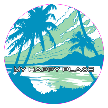 Happy beach decal