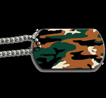 Camouflage Dog Tag Back