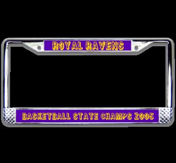 Basketball Champs Chrome License Plate Frame