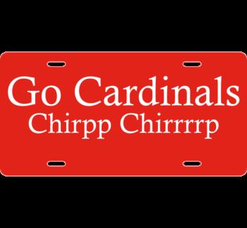 Cardinals License Plate