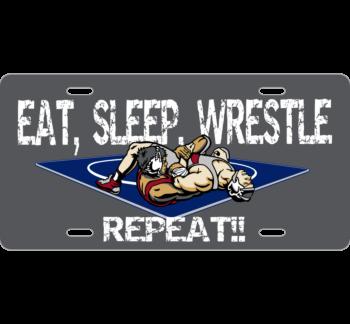 Eat, Sleep, Wrestle License Plate