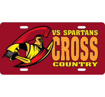 Cross Country License Plate