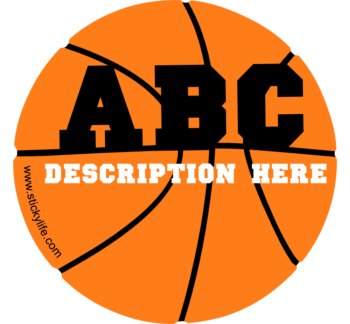 Basketball Vinyl Decal