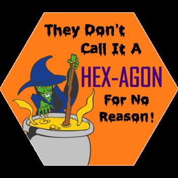 Witch Hexagon Sticker