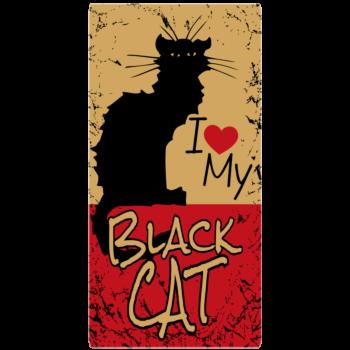 National Black Cat Day Rectangle Car Magnet