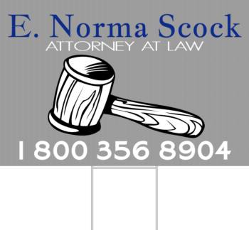 Legal Service Yard Sign Front