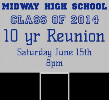 High School Reunion Yard Sign Front