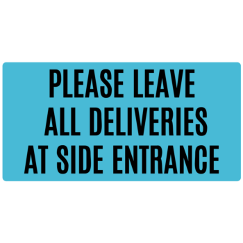 Delivery Notice Instructions Rectangle Door Static Cling