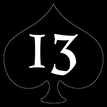 Lucky 13 Spade Car Magnet