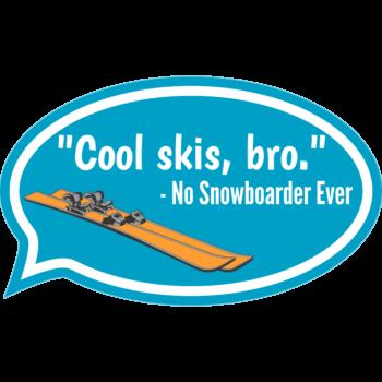 Cool Skis Car Magnet