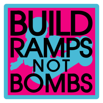 Build Ramps Not Bombs Square Magnets