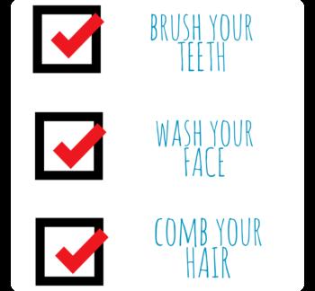 Bathroom Checklist Static Cling