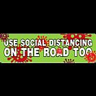 Use Social Distancing On the Road Too Coronavirus COVID-19 Funny Parody Vinyl Bumper Sticker