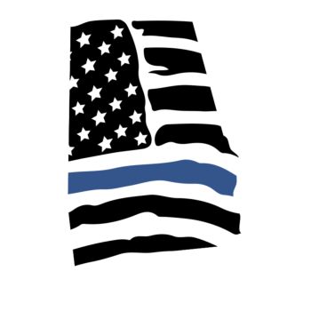 Police Support Flag Decal