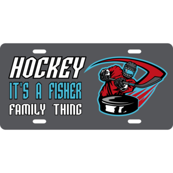 Hockey License Plate