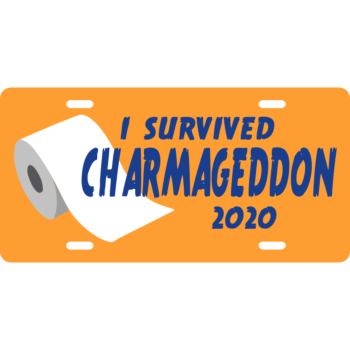 I Survived Charmageddon 2020 License Plate