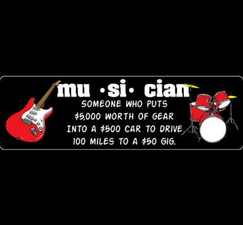 Musician Definition Bumper Sticker