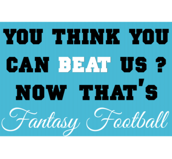 Fantasy Football Corrugated Sign Front