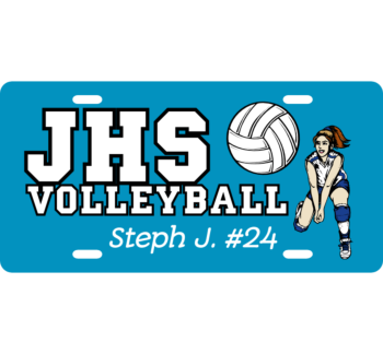 High School Volleyball License Plate