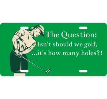 The Golf Question License Plate