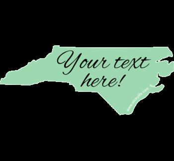 Aqua North Carolina Decal