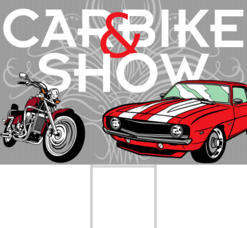 Car & Bike Show Yard Sign Front