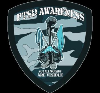 PTSD Awareness Shield Car Magnet