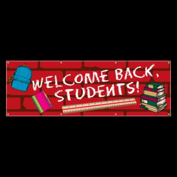 Welcome Back Students Back to School Custom Vinyl Banner
