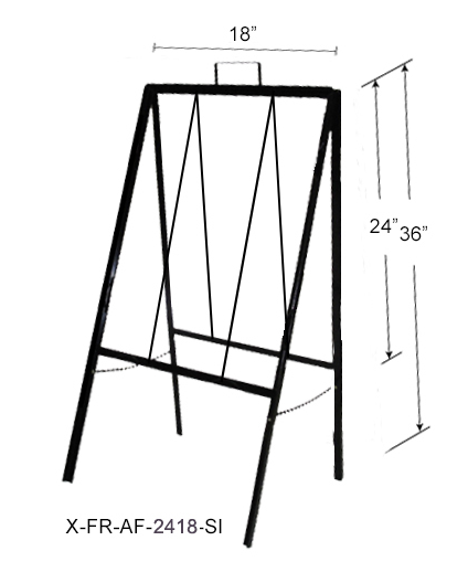 Slide in A Frame Sign Portrait 18x24