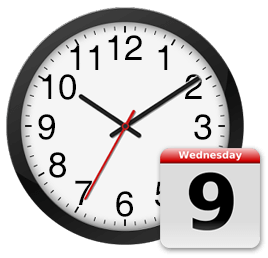 Turnaround time clock and calendar