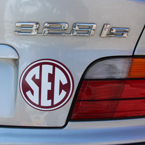 SEC Car magnet example on back of BMW
