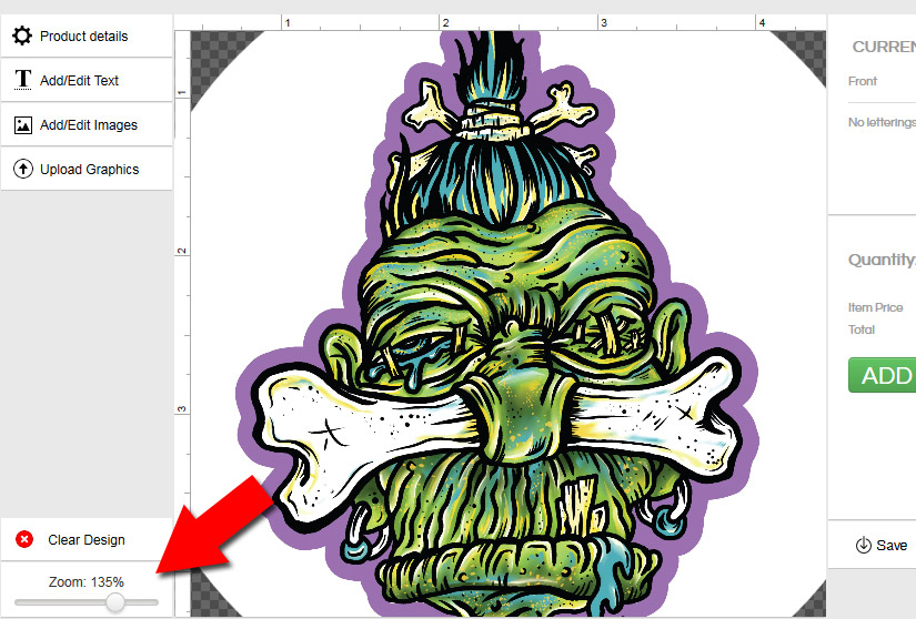 Zoom Tool Example Image